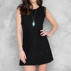 Francesca's | Annabelle Black Lace Dress